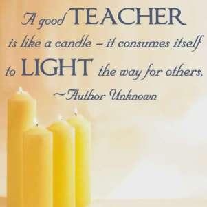 Quote - a good teacher ...